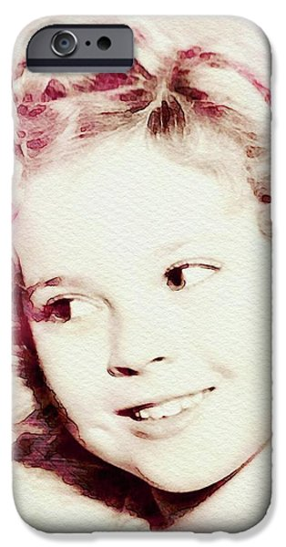 Shirley Temple iPhone 6s Case - Shirley Temple, Vintage Actress by John Springfield