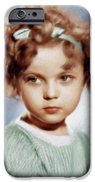 Shirley Temple iPhone 6s Case - Shirley Temple, Vintage Actress by Mary Bassett