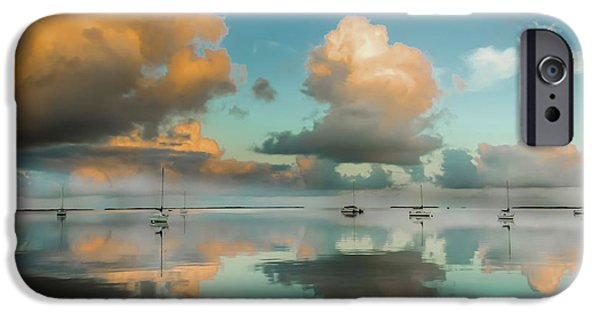 Teal iPhone 6s Case - Sound Of Silence by Karen Wiles
