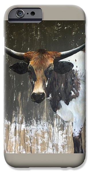 Cow iPhone 6s Case - Texas Longhorn by Cheryl Green