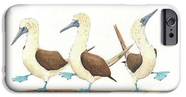 Three Blue Footed Boobies IPhone 6s Case