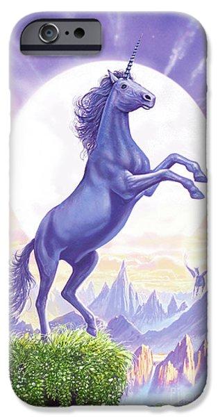 Unicorn Moon Ravens IPhone 6s Case by Steve Crisp