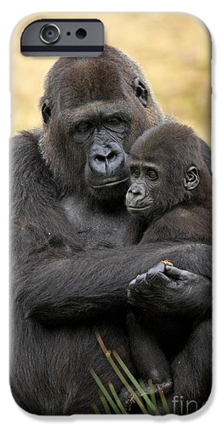 Western Gorilla And Young IPhone 6s Case by Jurgen & Christine Sohns/FLPA