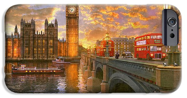 Pigeon iPhone 6s Case - Westminster Sunset by Dominic Davison