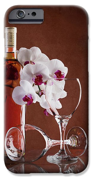 Orchid iPhone 6s Case - Wine And Orchids Still Life by Tom Mc Nemar