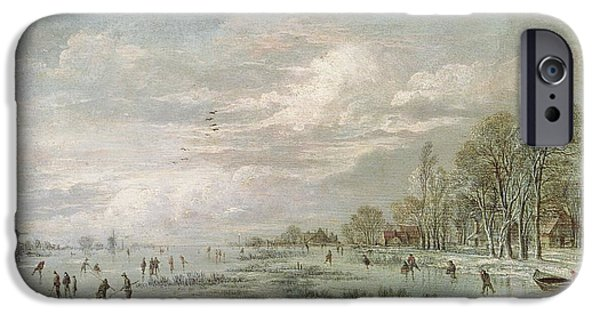 Winter Landscape IPhone Case by Aert van der Neer