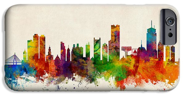 Boston Massachusetts Skyline IPhone 6s Case by Michael Tompsett
