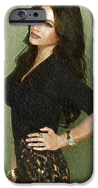 Shakira iPhone 6s Case - Celebrity Sofia Vergara  by Elizabeth Simon