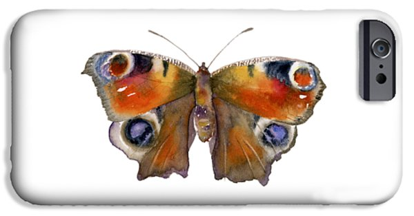 Peacock iPhone 6s Case - 10 Peacock Butterfly by Amy Kirkpatrick