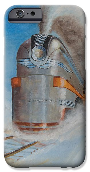 Train iPhone 6s Case - 104 Mph In The Snow by Christopher Jenkins