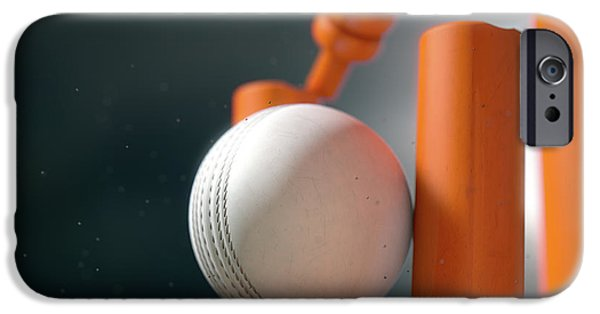 Cricket Ball Hitting Wickets IPhone 6s Case