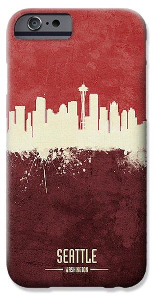 Seattle Skyline iPhone 6s Case - Seattle Washington Skyline by Michael Tompsett