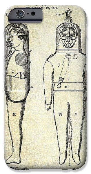 Scuba Diver iPhone 6s Case - 1871 Divers Suit Patent  by Jon Neidert