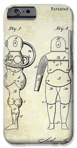 Scuba Diver iPhone 6s Case - 1890 Diving Armor Patent by Jon Neidert