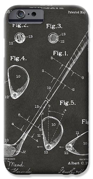 1910 Golf Club Patent Artwork - Gray IPhone 6s Case by Nikki Marie Smith
