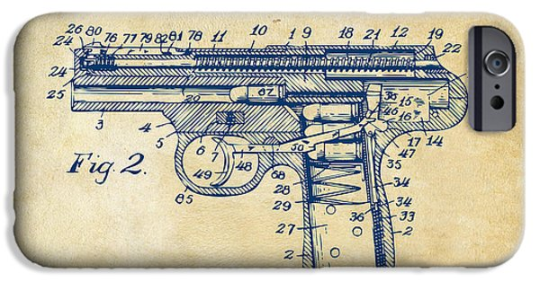 1911 Automatic Firearm Patent Minimal - Vintage IPhone Case by Nikki Marie Smith