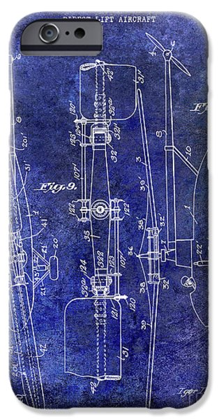 1935 Helicopter Patent Blue IPhone 6s Case by Jon Neidert