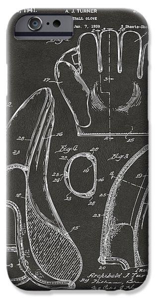 1941 Baseball Glove Patent - Gray IPhone 6s Case