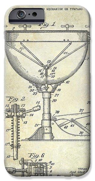 Drum iPhone 6s Case - 1941 Ludwig Drum Patent  by Jon Neidert