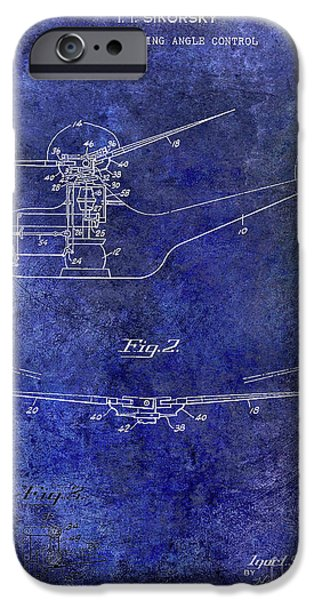 1947 Helicopter Patent Blue IPhone 6s Case by Jon Neidert