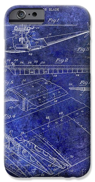 1949 Helicopter Patent Blue IPhone 6s Case