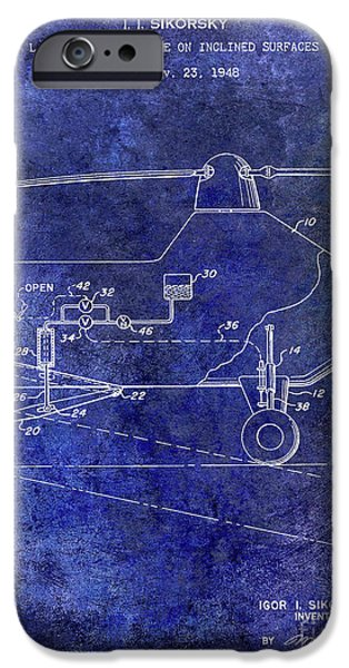 1953 Helicopter Patent Blue IPhone 6s Case