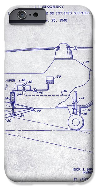 1953 Helicopter Patent Blueprint IPhone 6s Case