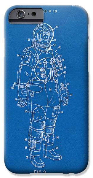 1973 Astronaut Space Suit Patent Artwork - Blueprint IPhone 6s Case by Nikki Marie Smith