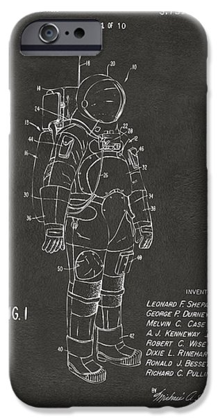 1973 Space Suit Patent Inventors Artwork - Gray IPhone 6s Case by Nikki Marie Smith