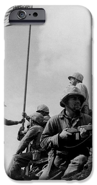 1st Flag Raising On Iwo Jima  IPhone 6s Case by War Is Hell Store