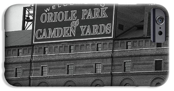 Oriole iPhone 6s Case - Baltimore Orioles Park At Camden Yards Bw by Frank Romeo
