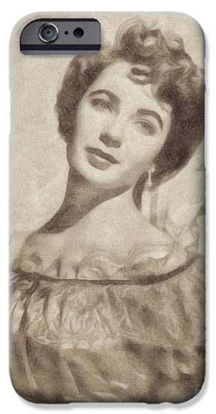 Elizabeth Taylor, Vintage Hollywood Legend By John Springfield IPhone 6s Case by John Springfield