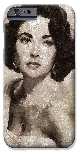 Elizabeth Taylor, Vintage Hollywood Legend By Mary Bassett IPhone 6s Case by Mary Bassett