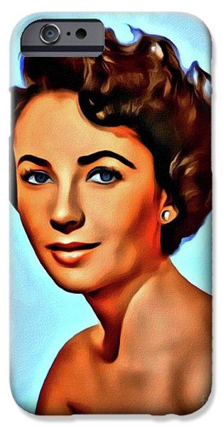 Elizabeth Taylor, Vintage Hollywood Legend IPhone 6s Case by Mary Bassett