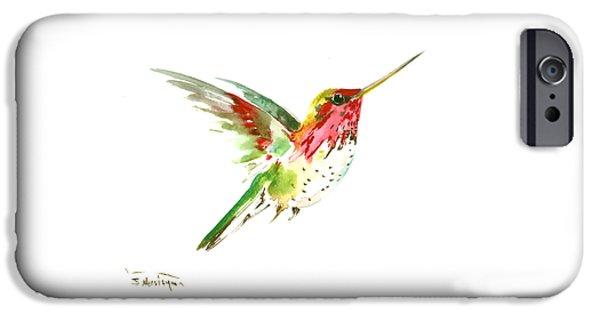 Hummingbird iPhone 6s Case - Flying Hummingbird by Suren Nersisyan
