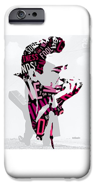Johnny Cash Song Lyric I Walk The Line IPhone 6s Case by Marvin Blaine