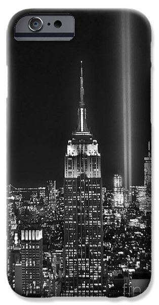 Central Park iPhone 6s Case - New York City Tribute In Lights Empire State Building Manhattan At Night Nyc by Jon Holiday
