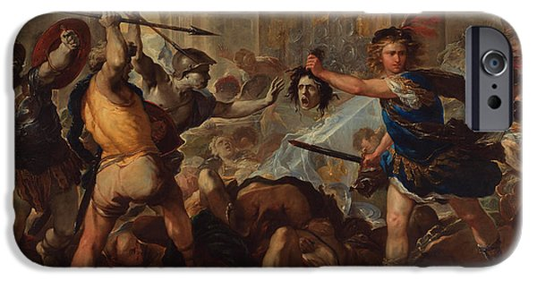 Gorgon iPhone 6s Case - Perseus Turning Phineas And His Followers To Stone by Luca Giordano