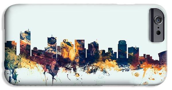 Phoenix iPhone 6s Case - Phoenix Arizona Skyline by Michael Tompsett