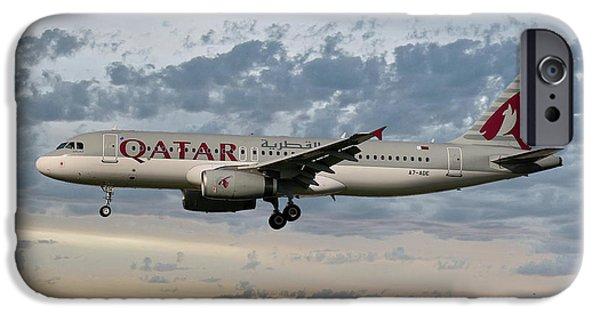Jet iPhone 6s Case - Qatar Airways Airbus A320-232 by Smart Aviation