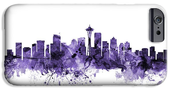 Seattle Skyline iPhone 6s Case - Seattle Washington Skyline by Michael Tompsett