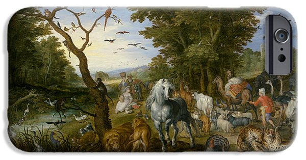 Ostrich iPhone 6s Case - The Entry Of The Animals Into Noah's Ark by Jan Brueghel the Elder