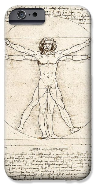 Nudes iPhone 6s Case - The Proportions Of The Human Figure by Leonardo Da Vinci