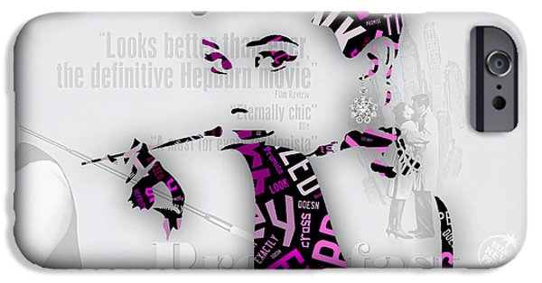 Audrey Hepburn Breakfast At Tiffany's Quotes IPhone 6s Case by Marvin Blaine