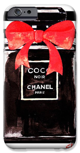 Perfume iPhone 6s Case - Chanel Noir Perfume by Del Art