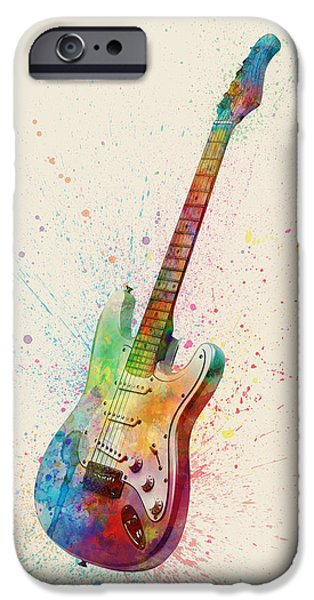 Electric Guitar Abstract Watercolor IPhone 6s Case by Michael Tompsett