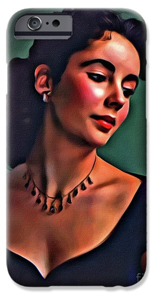 Elizabeth Taylor, Vintage Hollywood Legend By Mary Bassett IPhone 6s Case