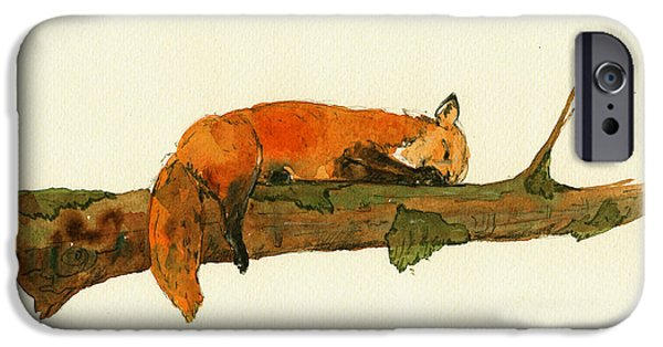 Fox Sleeping Painting IPhone 6s Case
