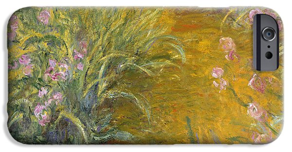 The Path Through The Irises IPhone 6s Case by Claude Monet