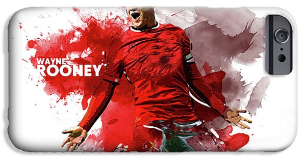 Wayne Rooney IPhone 6s Case by Semih Yurdabak